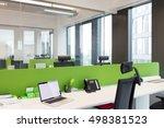 laptop and landline phone on...   Shutterstock . vector #498381523