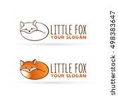 vector fox logo. lying fox. red ...   Shutterstock .eps vector #498383647