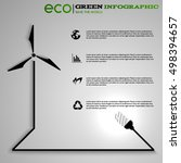 ecology infographic concept | Shutterstock .eps vector #498394657