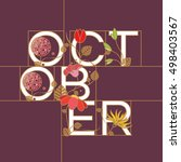 october month typographic... | Shutterstock .eps vector #498403567