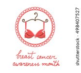 breast cancer awareness month... | Shutterstock .eps vector #498407527