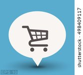 pictograph of shopping cart | Shutterstock .eps vector #498409117
