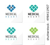 medical heart modern logo based ... | Shutterstock .eps vector #498411907
