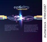 optic fibers vector background... | Shutterstock .eps vector #498415387