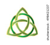 trinity knot or triquetra.... | Shutterstock .eps vector #498421237