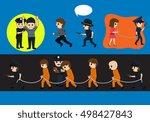 police arrested criminals... | Shutterstock .eps vector #498427843