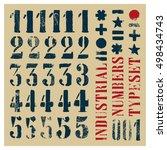 industrial stencil grunge... | Shutterstock .eps vector #498434743