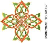 celtic cross in celtic knot... | Shutterstock .eps vector #498436417