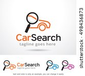 car search logo template design ... | Shutterstock .eps vector #498436873