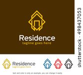 abstract house logo  real... | Shutterstock .eps vector #498437053