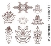 vector set of design elements... | Shutterstock .eps vector #498456457