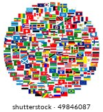 collection of world flags on... | Shutterstock . vector #49846087