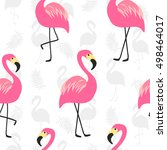 beautiful seamless pattern with ... | Shutterstock .eps vector #498464017