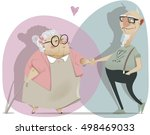 old cartoon couple in love | Shutterstock .eps vector #498469033
