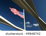 American Flag Flying On The...