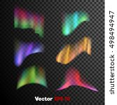 vector realistic 3d colored... | Shutterstock .eps vector #498494947