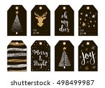 set with merry christmas and... | Shutterstock .eps vector #498499987