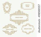 set vector design element... | Shutterstock .eps vector #498500557