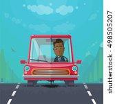 trendy flat design vehicle... | Shutterstock .eps vector #498505207