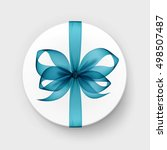 vector white round gift box... | Shutterstock .eps vector #498507487