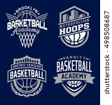 Basketball Sport Emblem Set