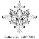 animal head triangular icon  ...   Shutterstock .eps vector #498511063