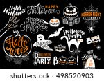 happy halloween celebration... | Shutterstock .eps vector #498520903
