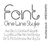vector linear font   simple and ... | Shutterstock .eps vector #498534493