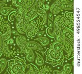 Seamless Green Paisley Pattern...