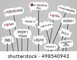 props for photos on weddings... | Shutterstock .eps vector #498540943