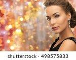 beauty  luxury  people ... | Shutterstock . vector #498575833