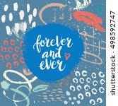 hand drawn phrase . lettering...   Shutterstock .eps vector #498592747