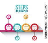 steps options and infographic... | Shutterstock .eps vector #498593797