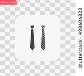 necktie vector icon | Shutterstock .eps vector #498606823