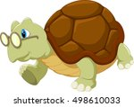 turtle wearing glasses | Shutterstock .eps vector #498610033
