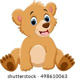 cute baby bear cartoon | Shutterstock . vector #498610063