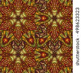 ornate floral seamless texture  ... | Shutterstock .eps vector #498623323