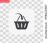 vector shopping basket icon | Shutterstock .eps vector #498623587
