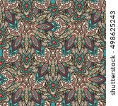 ornate floral seamless texture  ... | Shutterstock .eps vector #498625243