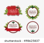 merry christmas related icons... | Shutterstock .eps vector #498625837