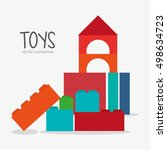 blocks toy and game design   Shutterstock .eps vector #498634723