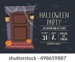 halloween night party...   Shutterstock .eps vector #498659887