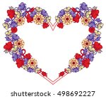 heart shaped frame with... | Shutterstock .eps vector #498692227