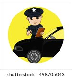 meter maid issue vector concept | Shutterstock .eps vector #498705043