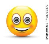 smiling emoji big realistic...   Shutterstock .eps vector #498718573