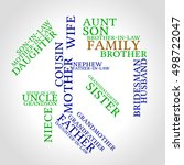 smart family words cloud... | Shutterstock .eps vector #498722047