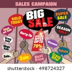 sale campaign 'big sale' to... | Shutterstock .eps vector #498724327