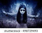 Ghost Girl Horror Background...