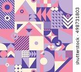 contemporary geometric mosaic... | Shutterstock . vector #498731803