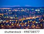 abstract circular bokeh city...   Shutterstock . vector #498738577